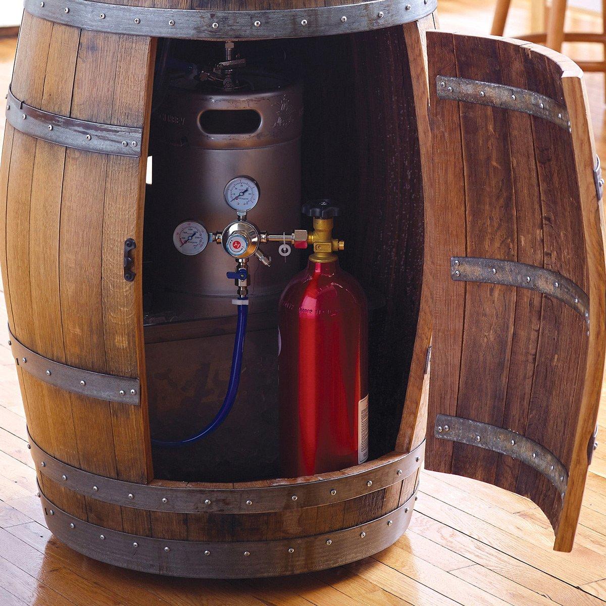 Recycled Wine Barrel Kegerator The Green Head