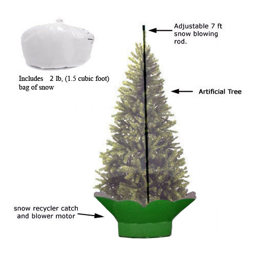 recycling snow machine let it snow inside your home - Snow Christmas Tree