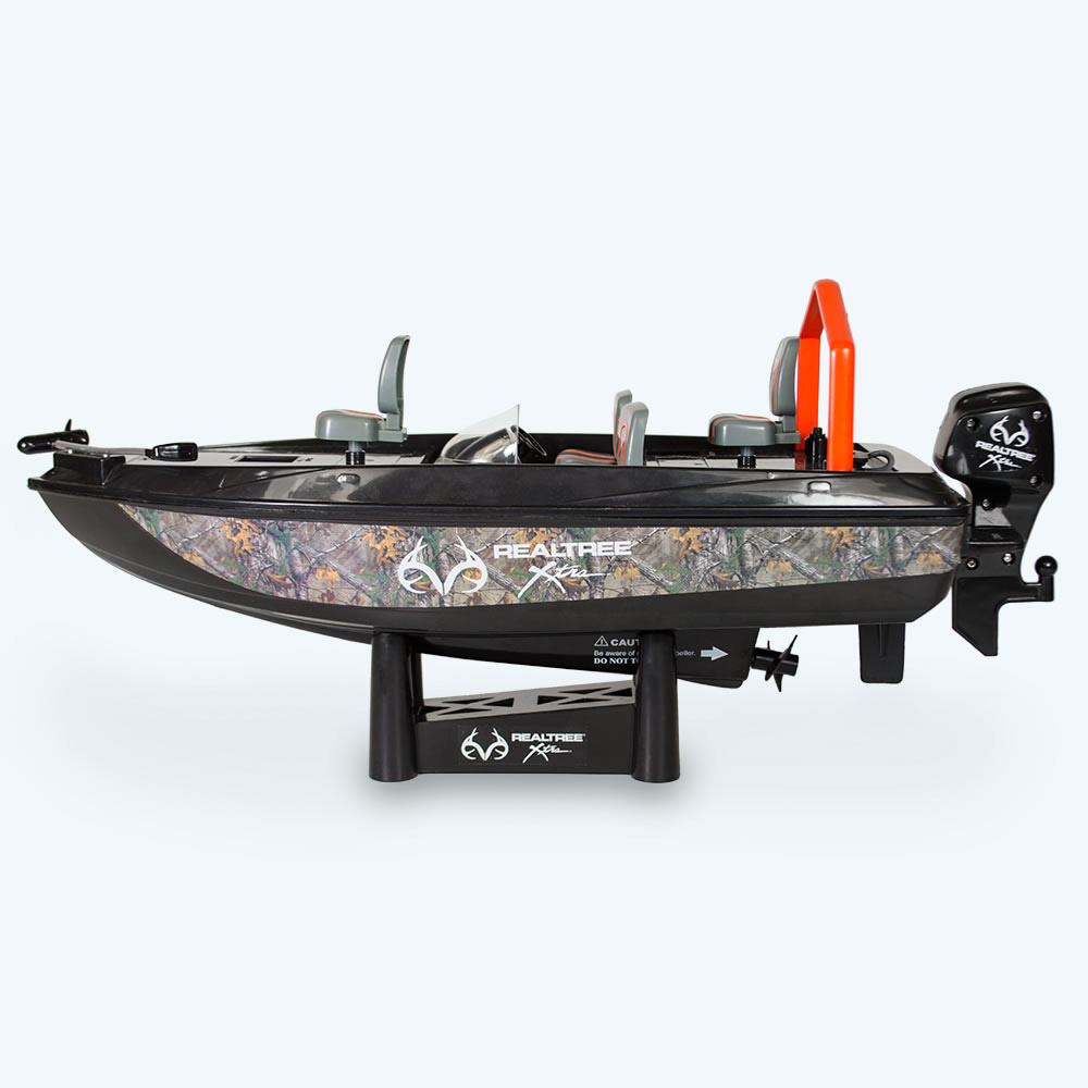 Remote control fish catching boat the green head for Fishing rc boat