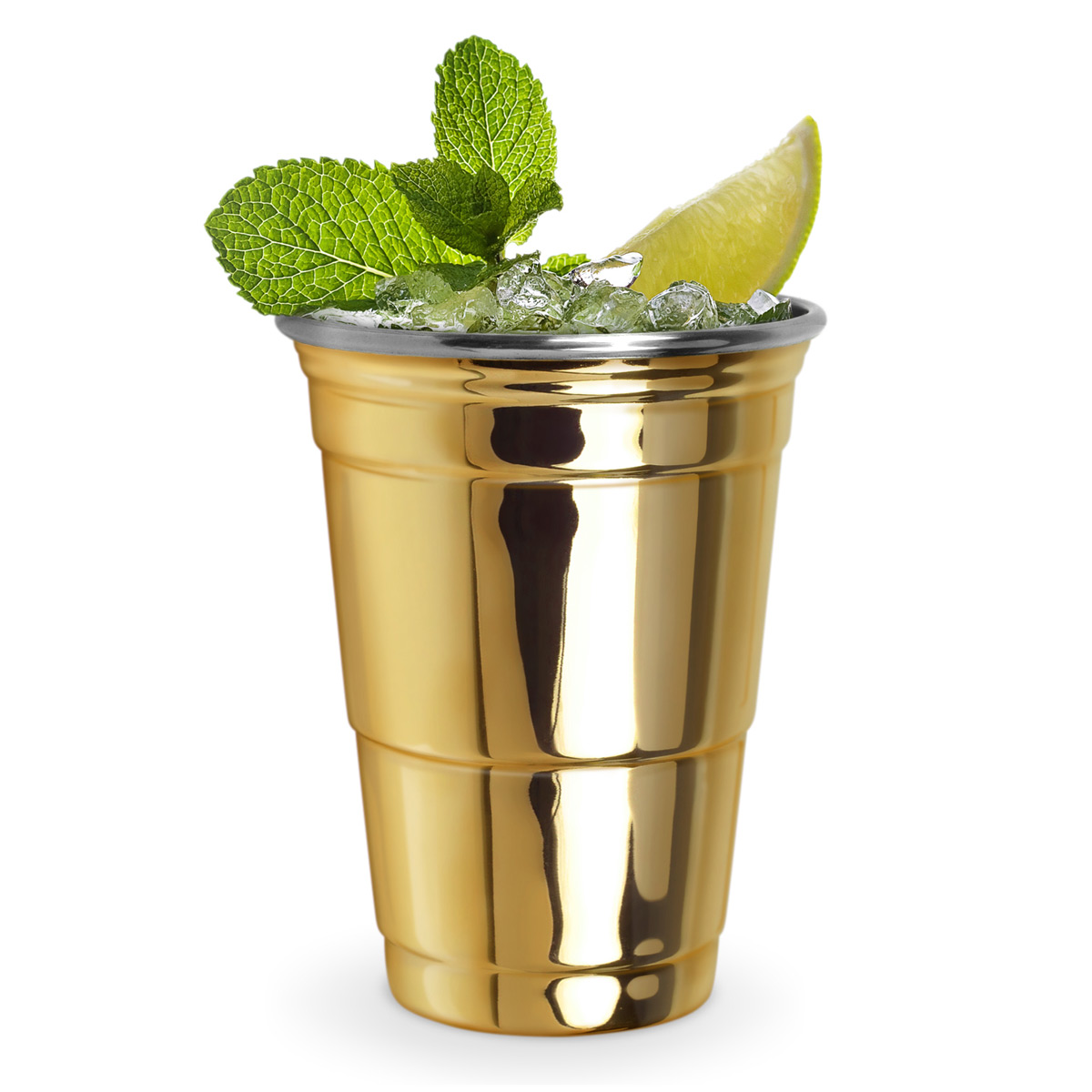 Reusable gold party cup the green head for Gold party