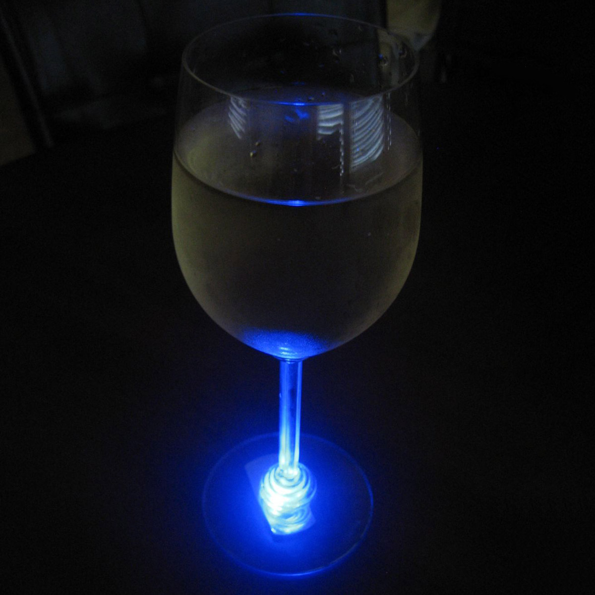 reusable led wine glass base lights