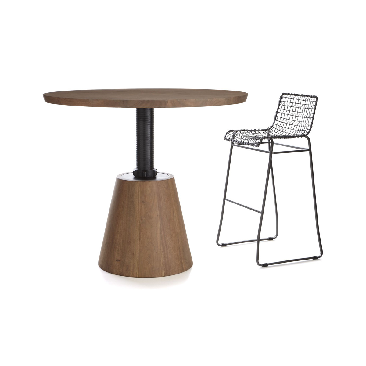 Revolve   Adjustable Height Dining / Cocktail Table