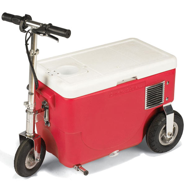 Cruzin 39 cooler rideable electric beverage cooler the for Motor cooler on wheels