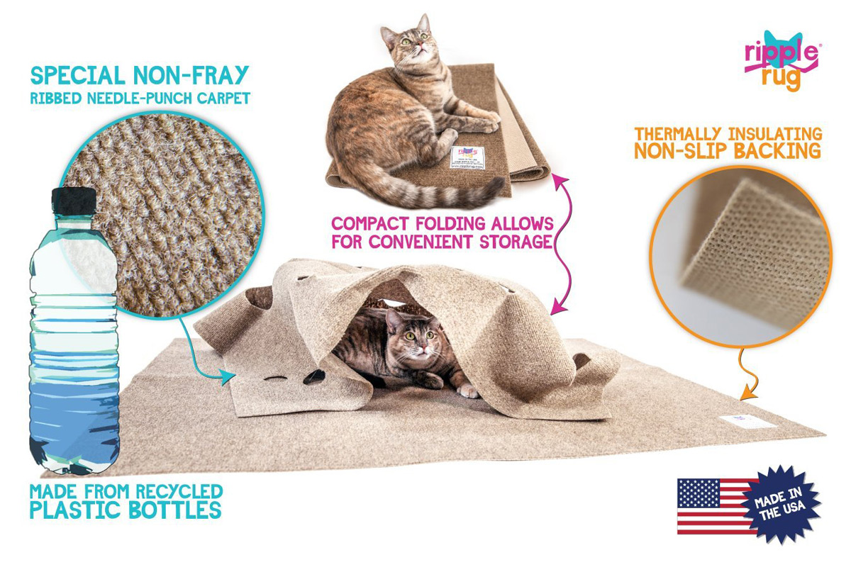 Ripple Rug Interactive Cat Activity Mat