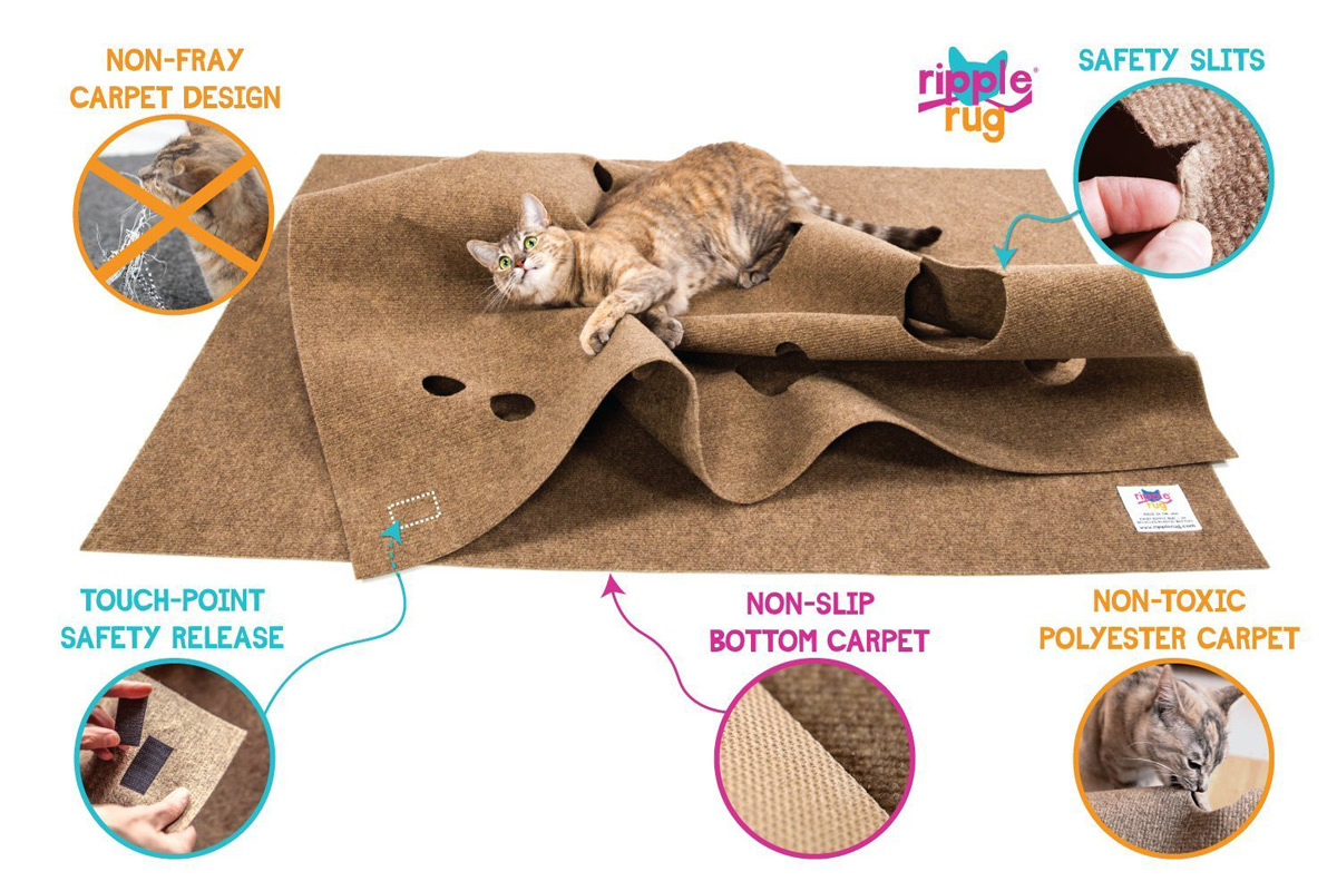Ripple Rug Interactive Cat Activity Mat The Green Head