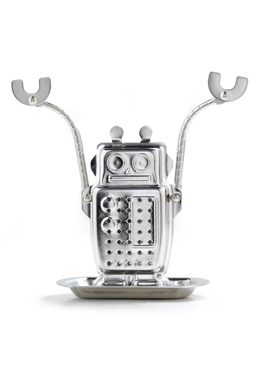 robot tea infuser the green head
