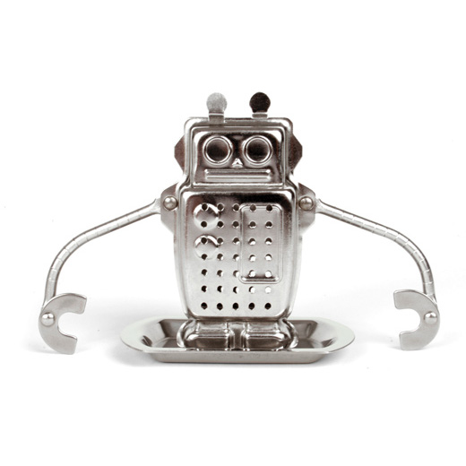 robot tea infuser the green head. Black Bedroom Furniture Sets. Home Design Ideas