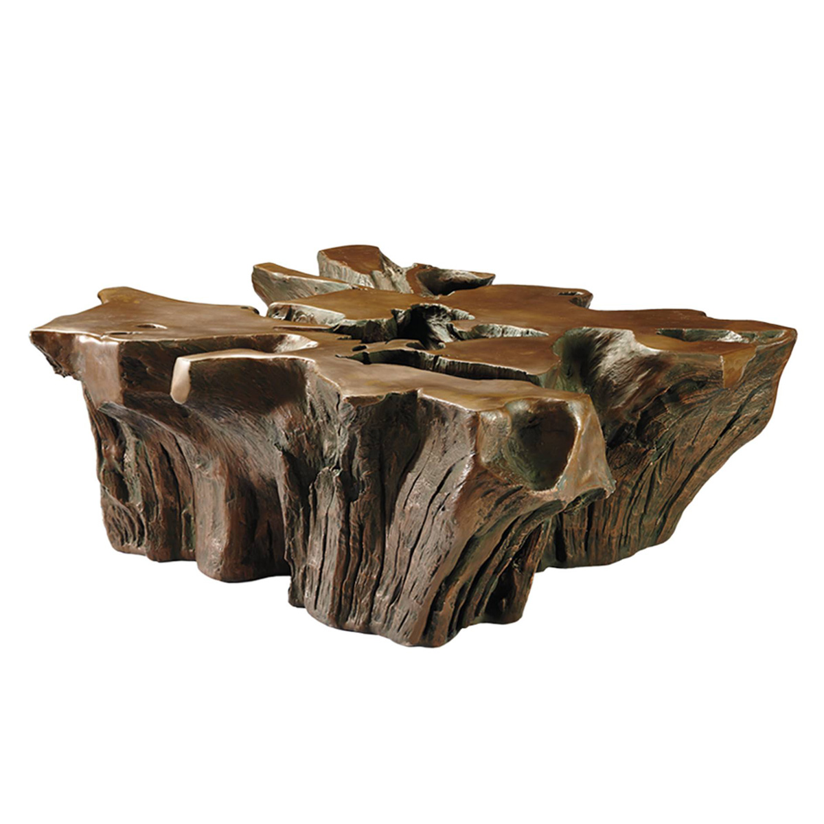 White Tree Stump Coffee Table: Root Coffee Table