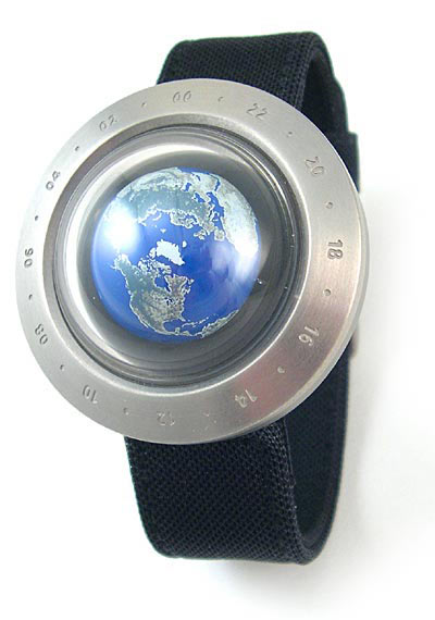Rotating Earth Watch The Green Head