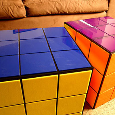 Rubik 39 s cube coffee table the green head - Cube table basse ...