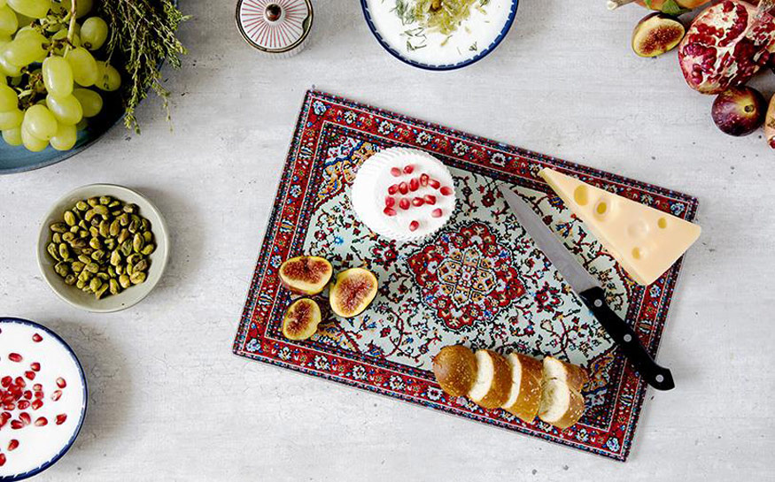 Rugboard Persian Rug Cutting Board Serving Platter And