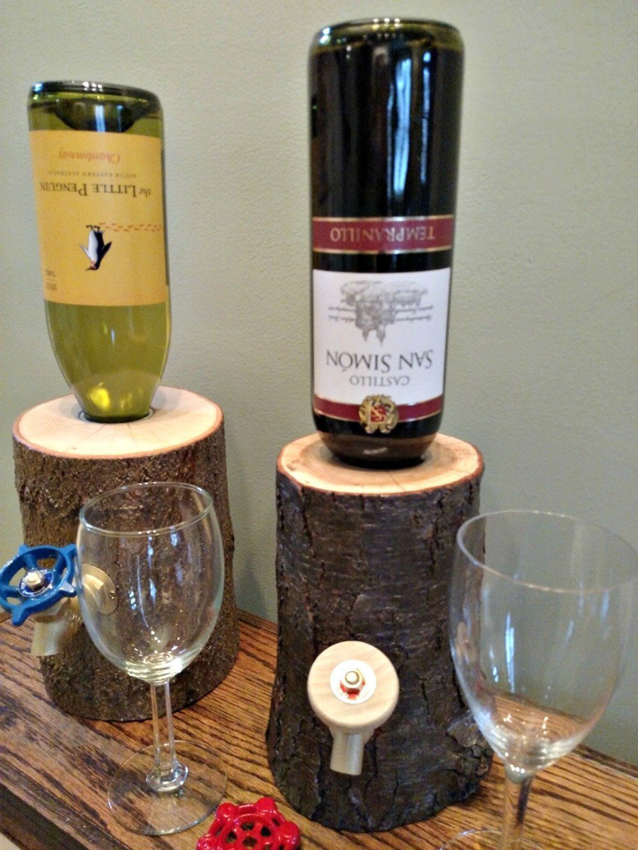 Rustic Log Wine Liquor Dispensers The Green Head