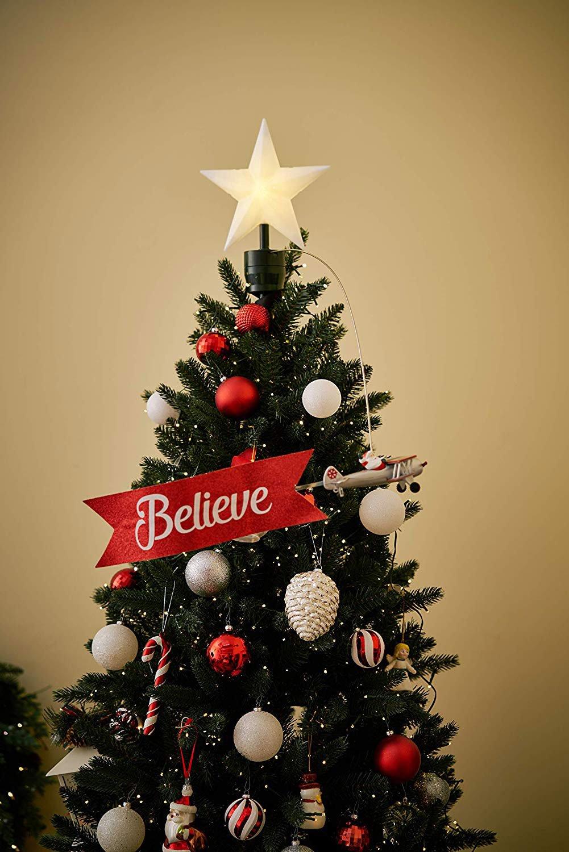 Santa Claus Biplane Animated Tree Topper