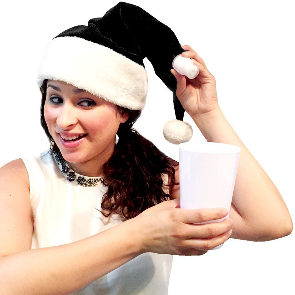 Santa hat flask the green head