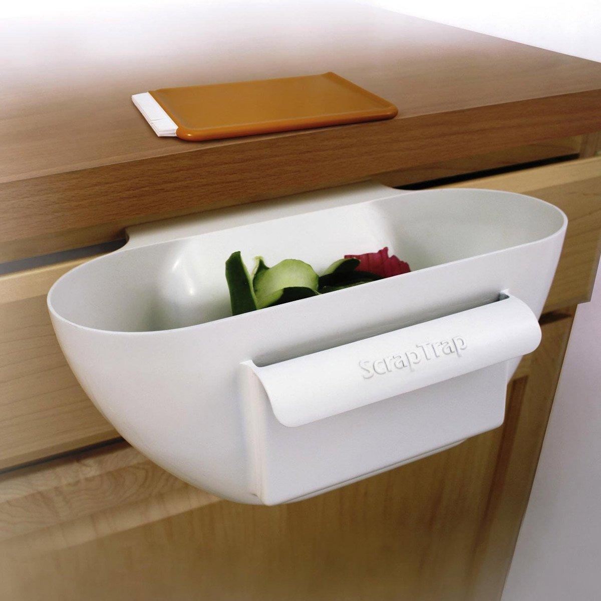 Scrap Trap   Handy Kitchen Counter Scrap Bowl