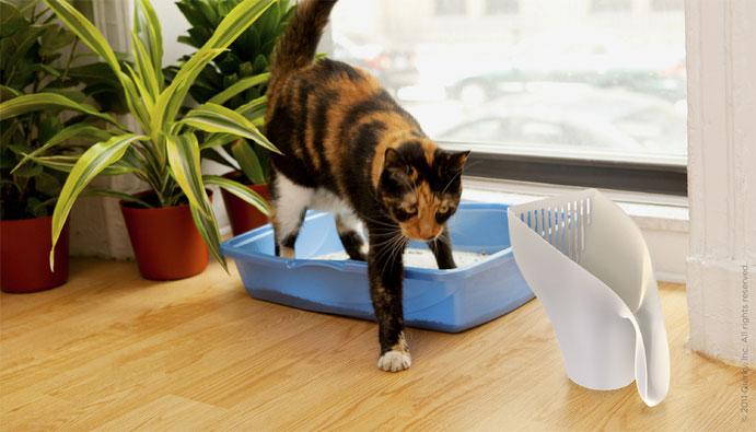 Scute Cat Litter Scoop With Bag