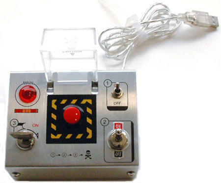 Big Red Button Doomsday Device And Usb Hub The Green Head