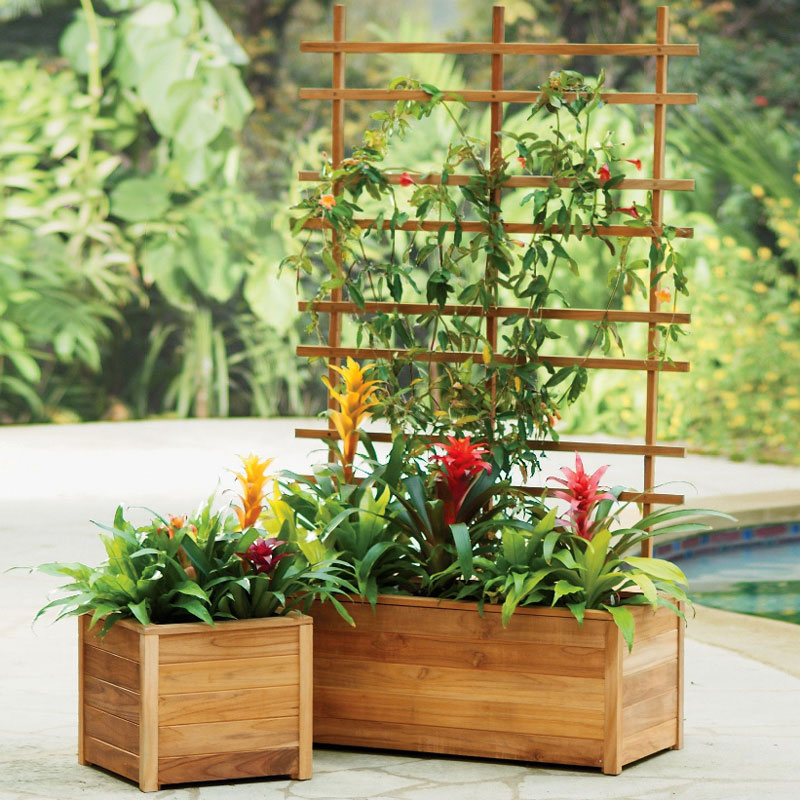 self watering teak planters built to last a lifetime. Black Bedroom Furniture Sets. Home Design Ideas