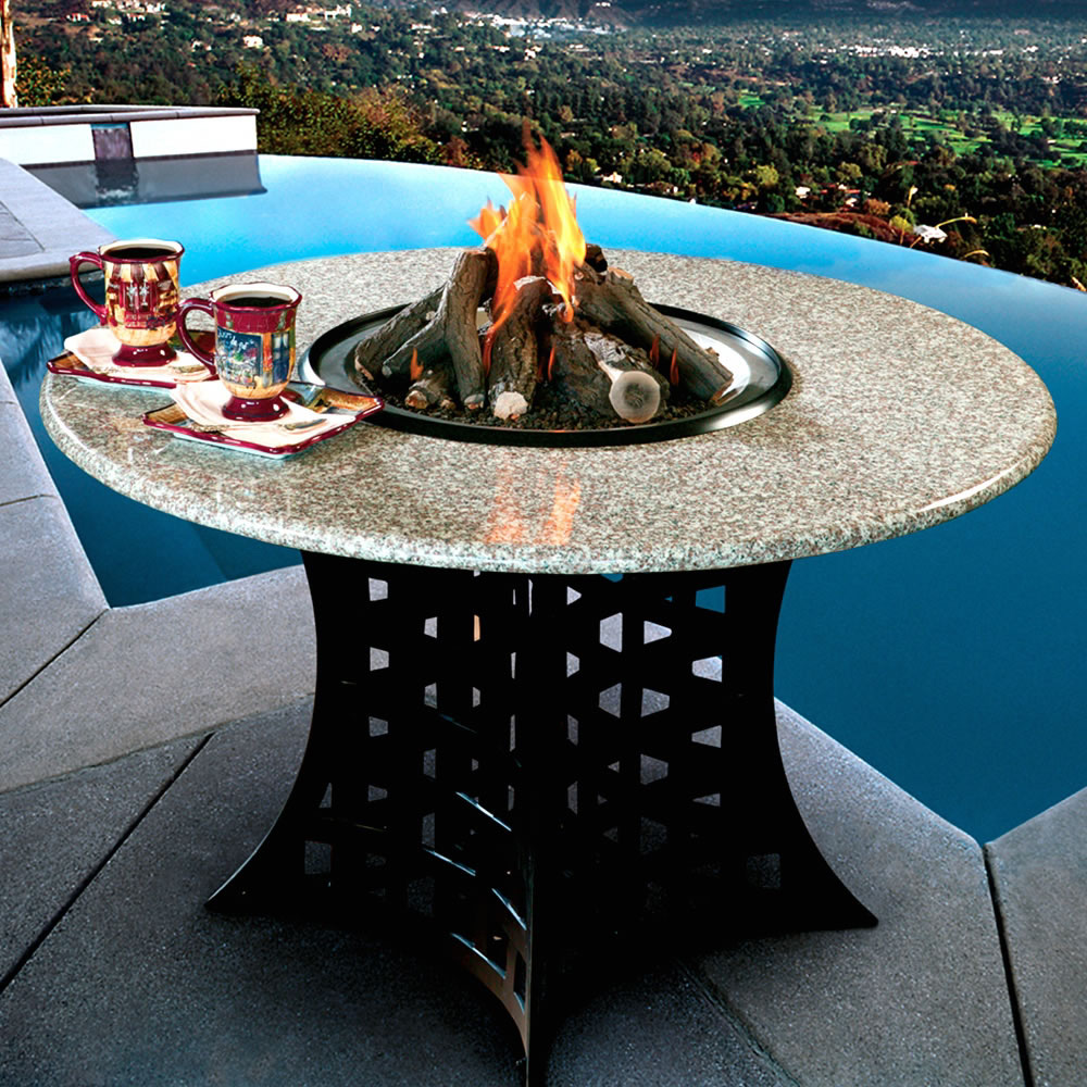 Shanxi Granite Hearth Table Fire Pit Grill Or Ice