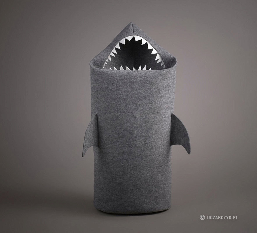 Shark Felt Laundry Hamper The Green Head