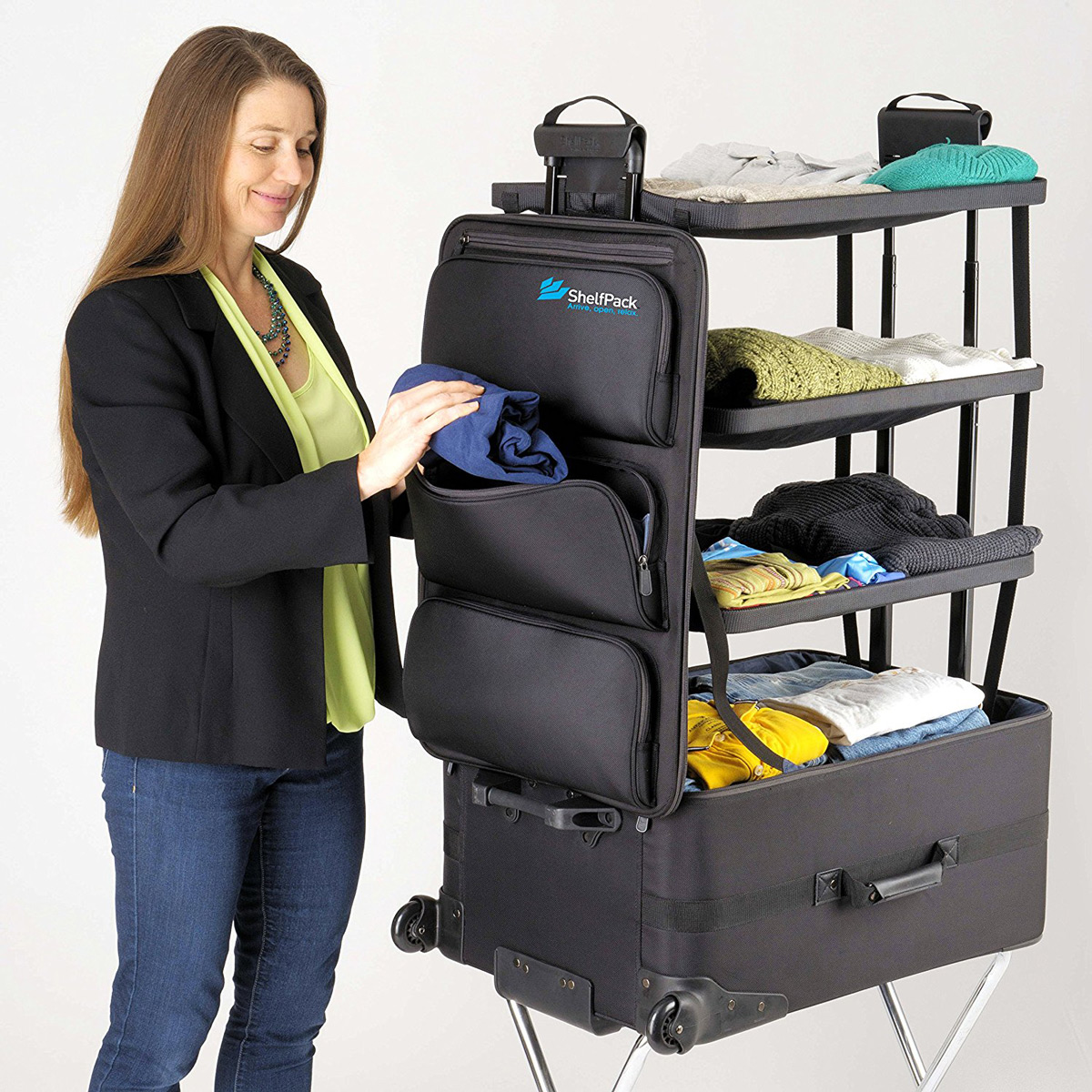 Shelfpack Suitcase With Built In Shelves