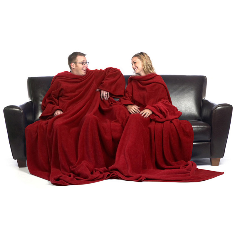 Siamese Slanket Blanket With Sleeves For Two