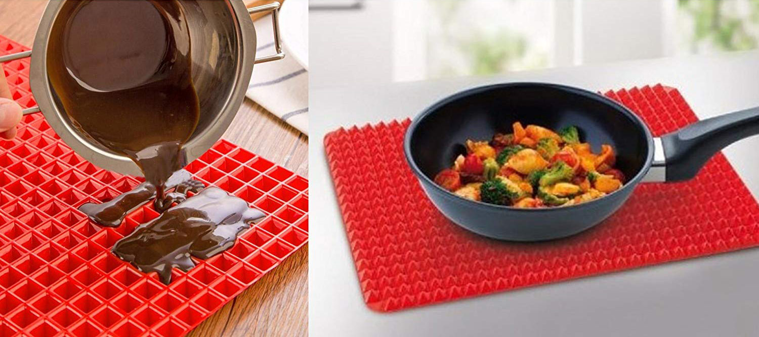 Silicone Pyramid Baking Mat Cooling Rack Trivet