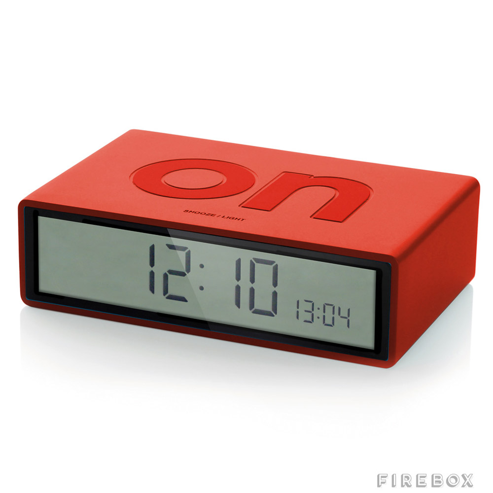 Simple flip over alarm clock the green head for Cool nightstand clocks