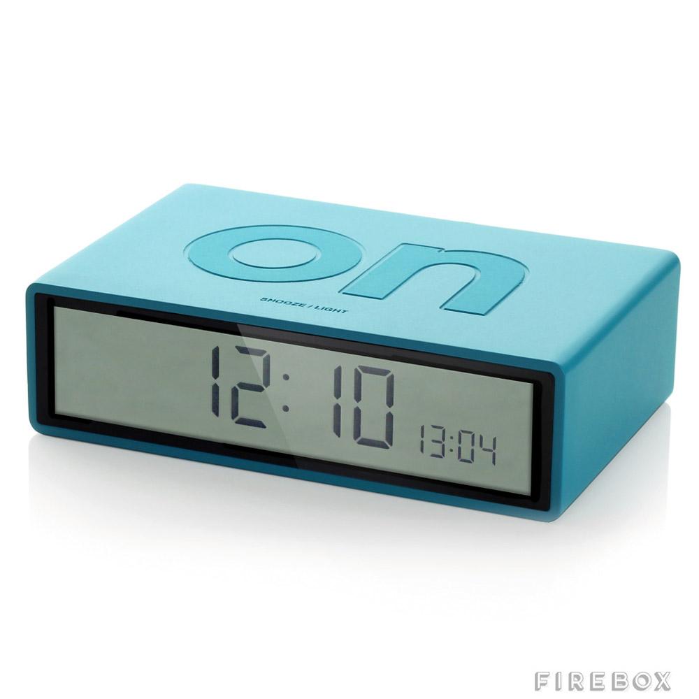 Simple flip over alarm clock the green head for Minimalist alarm clock