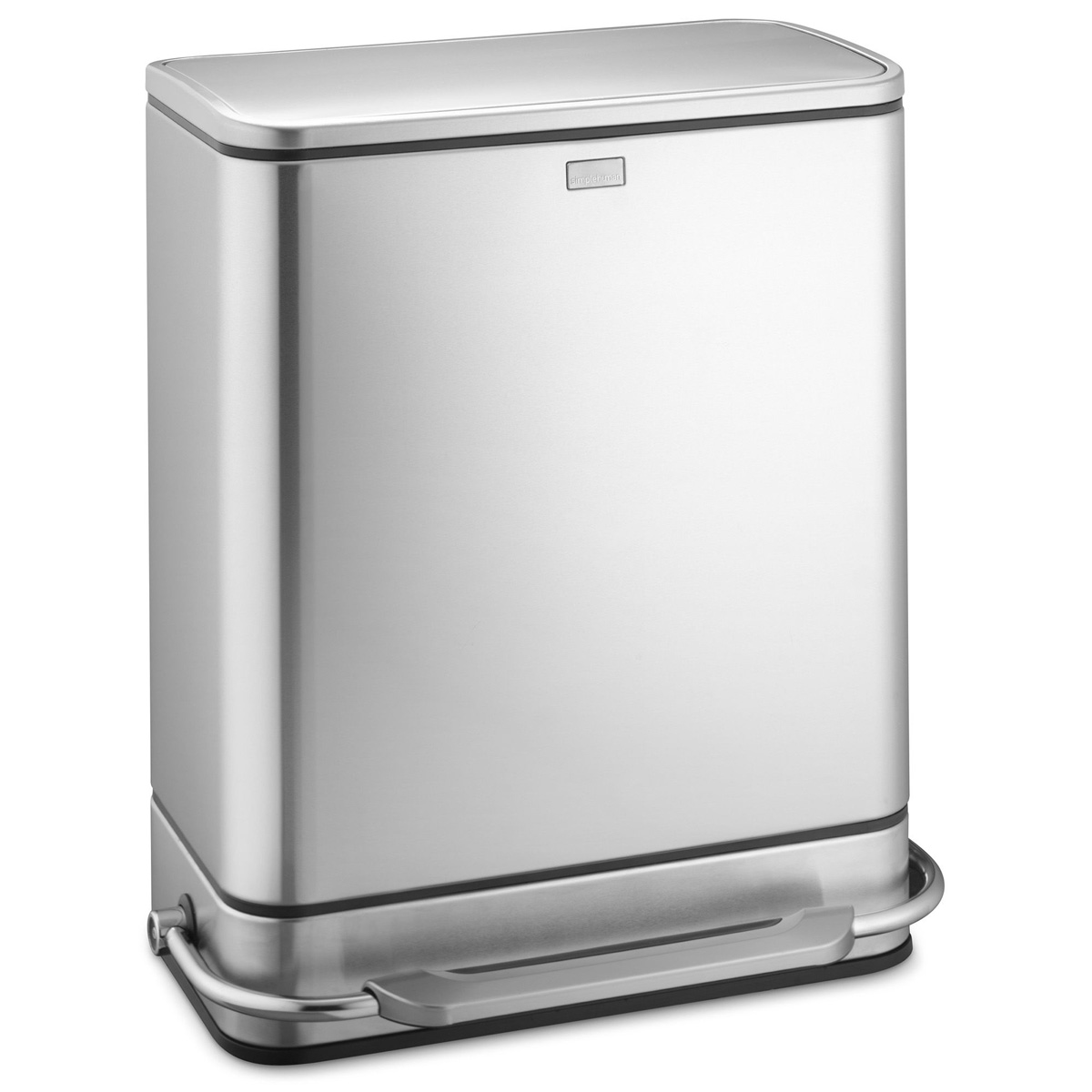 simplehuman steel bar step trash can recycler the