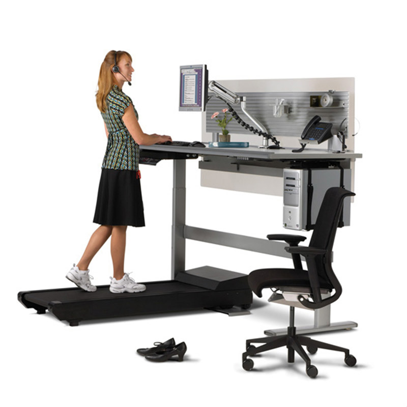 sit to walkstation treadmill desk sit stand or walk the green head. Black Bedroom Furniture Sets. Home Design Ideas