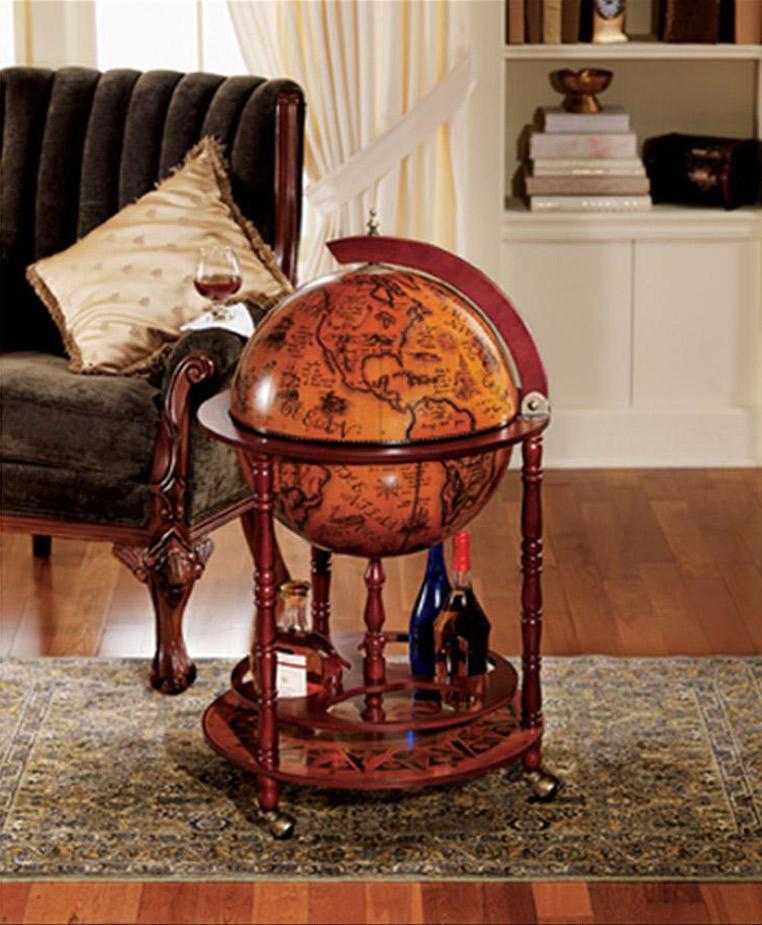 16th Century Italian Replica Globe Bar The Green Head