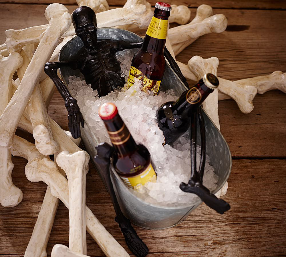 skeleton bath party bucket - the green head