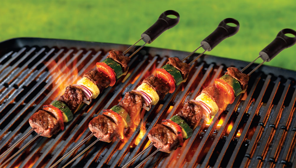 Slide And Serve Double Prong Sliding Skewers The Green