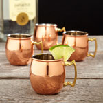 Copper Moscow Mule Shot Glasses