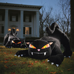 Giant Inflatable Furry Black Cat