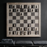Giant Wall-Mounted Vertical Chess Set