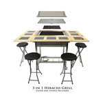 My Hibachi BBQ - 3-in-1 Sit Around Grill