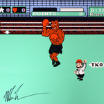 Signed Mike Tyson's Punch-Out!! Canvas Print