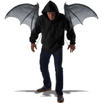 Wearable Bat Wings That Open and Close