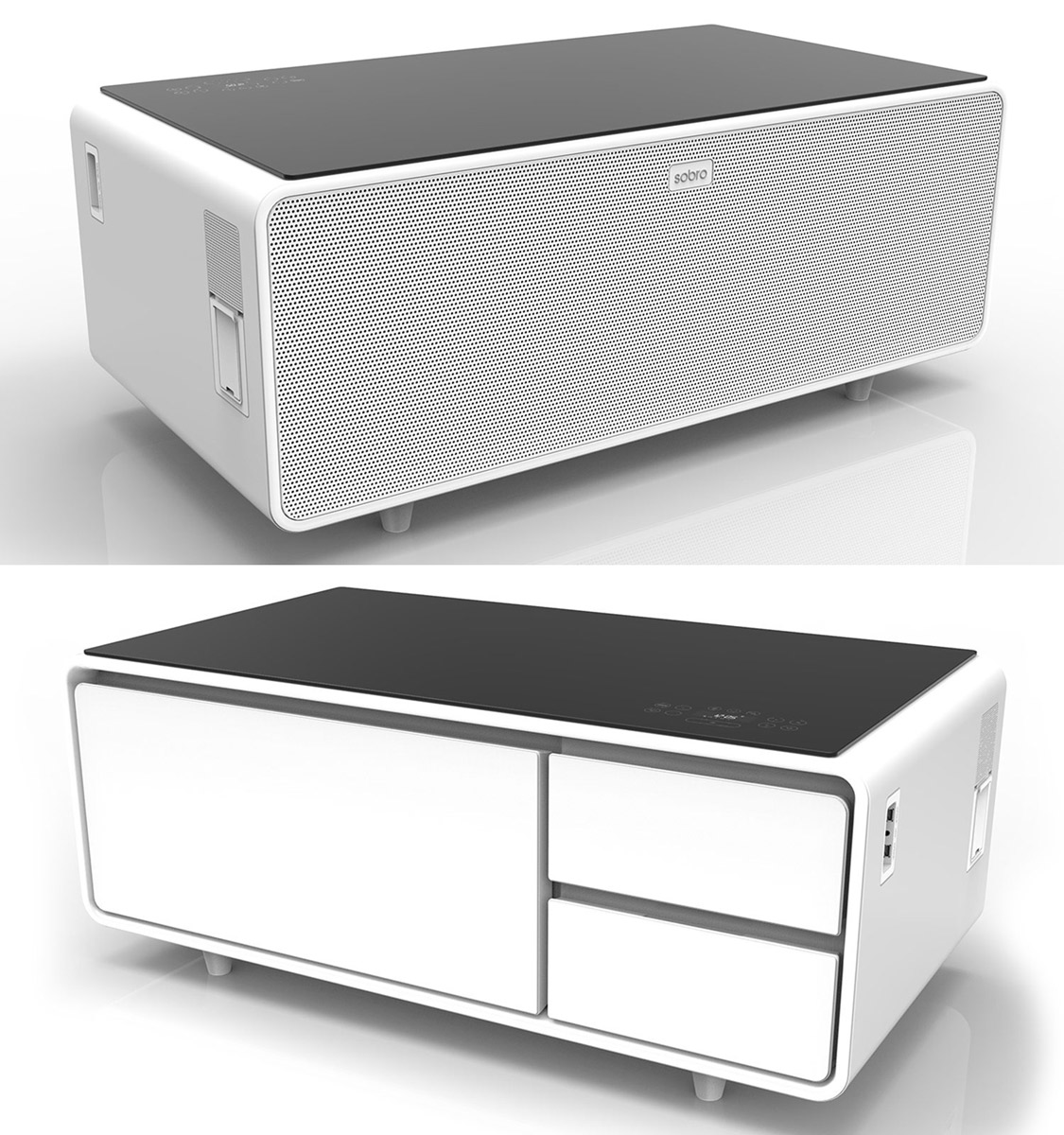 Sobro Smart Coffee Table W Fridge Speakers Led Lights