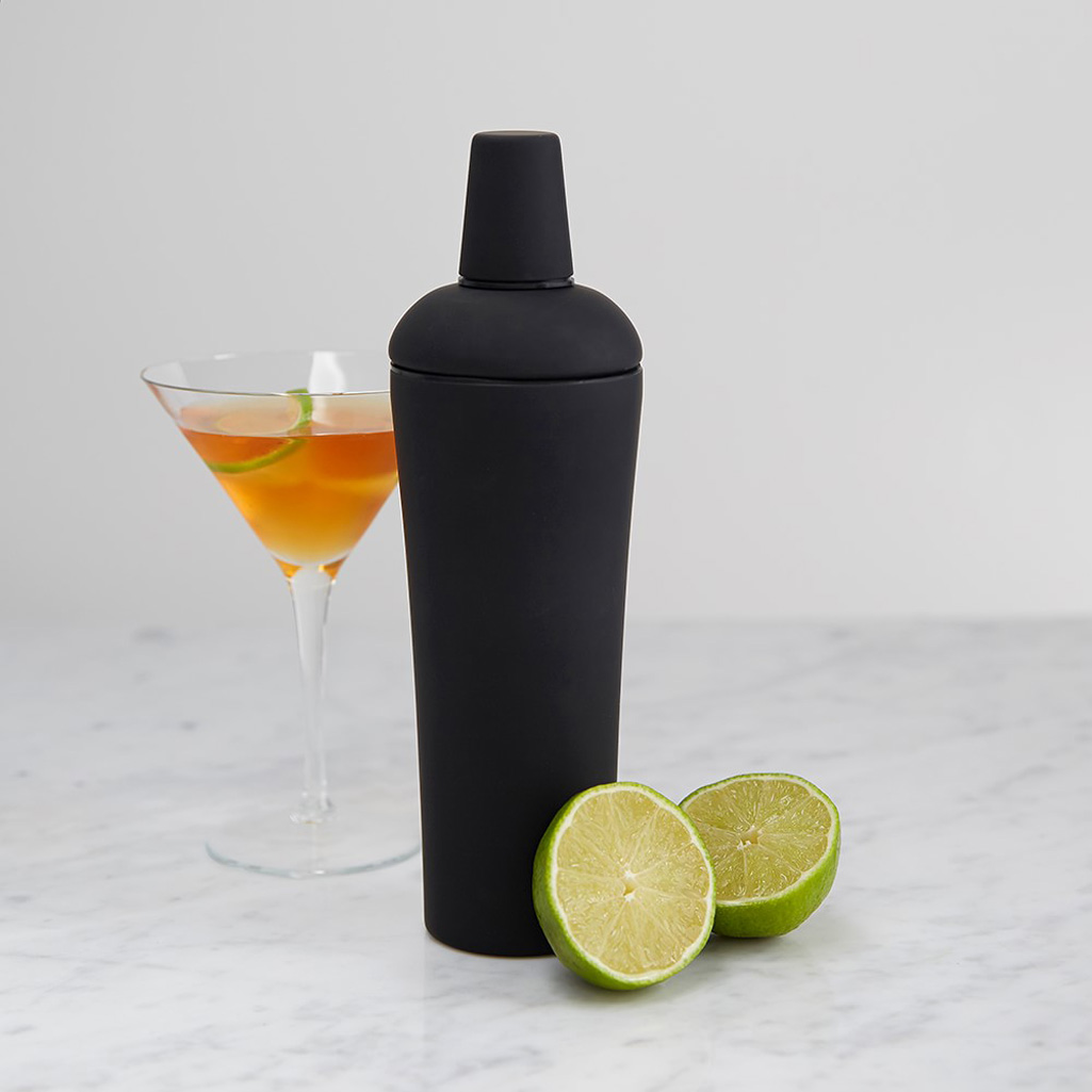 Soft Grip Black Nuance Cocktail Shaker The Green Head