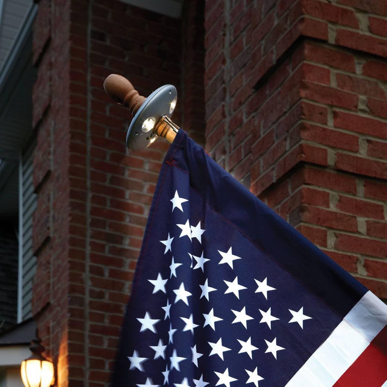 solar flagpole light the green head. Black Bedroom Furniture Sets. Home Design Ideas