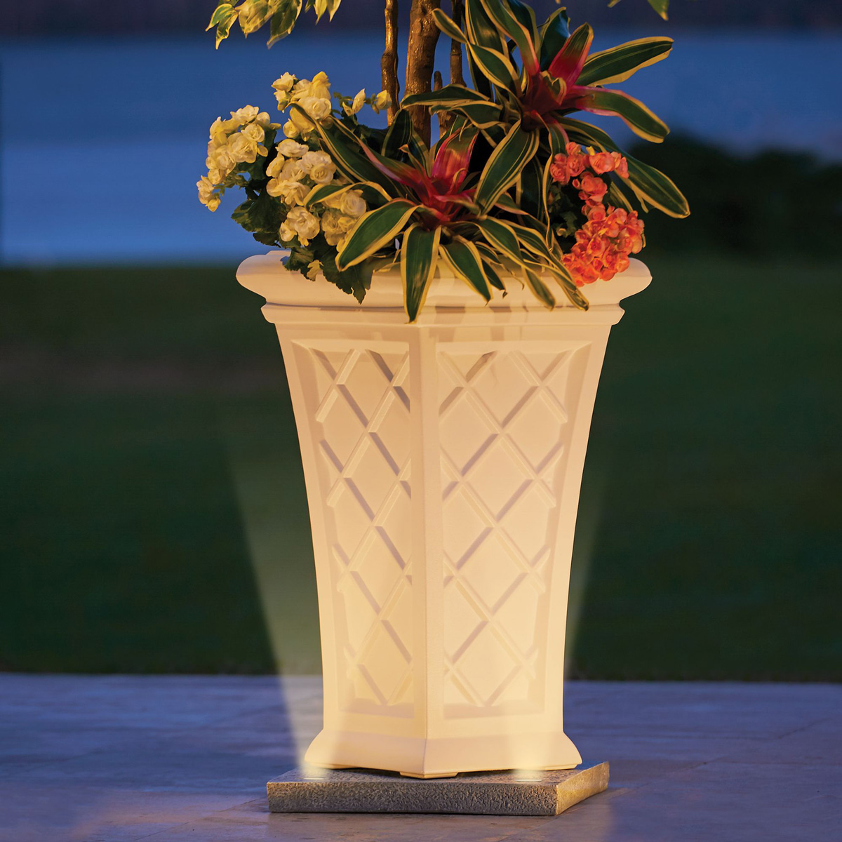 Solar Light Up Planter Base The Green Head