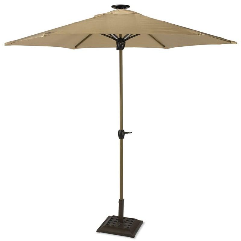 Solar Powered Lighted Patio Umbrella