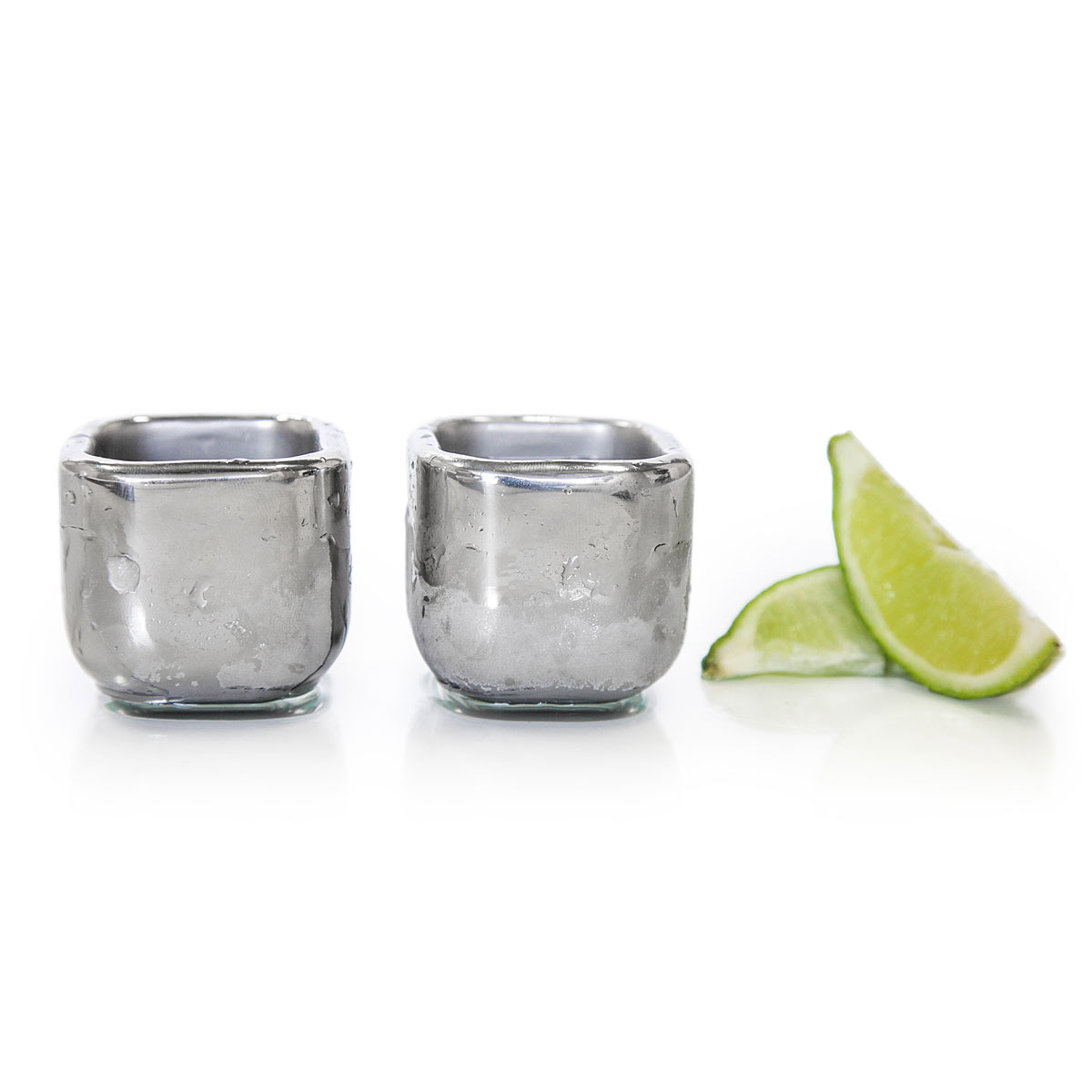 Sparq Cubed - Freezable Stainless Steel Shot Glasses - The Green Head