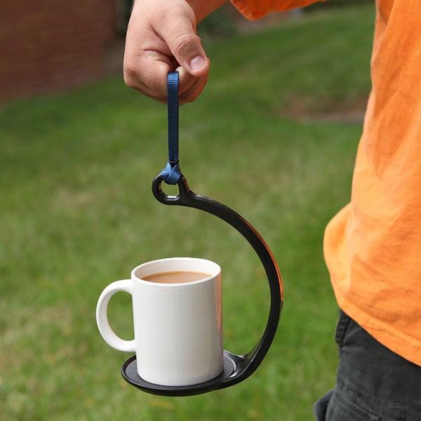 Spillnot no spill coffee mug carrier the green head - Anti spill wine glass ...