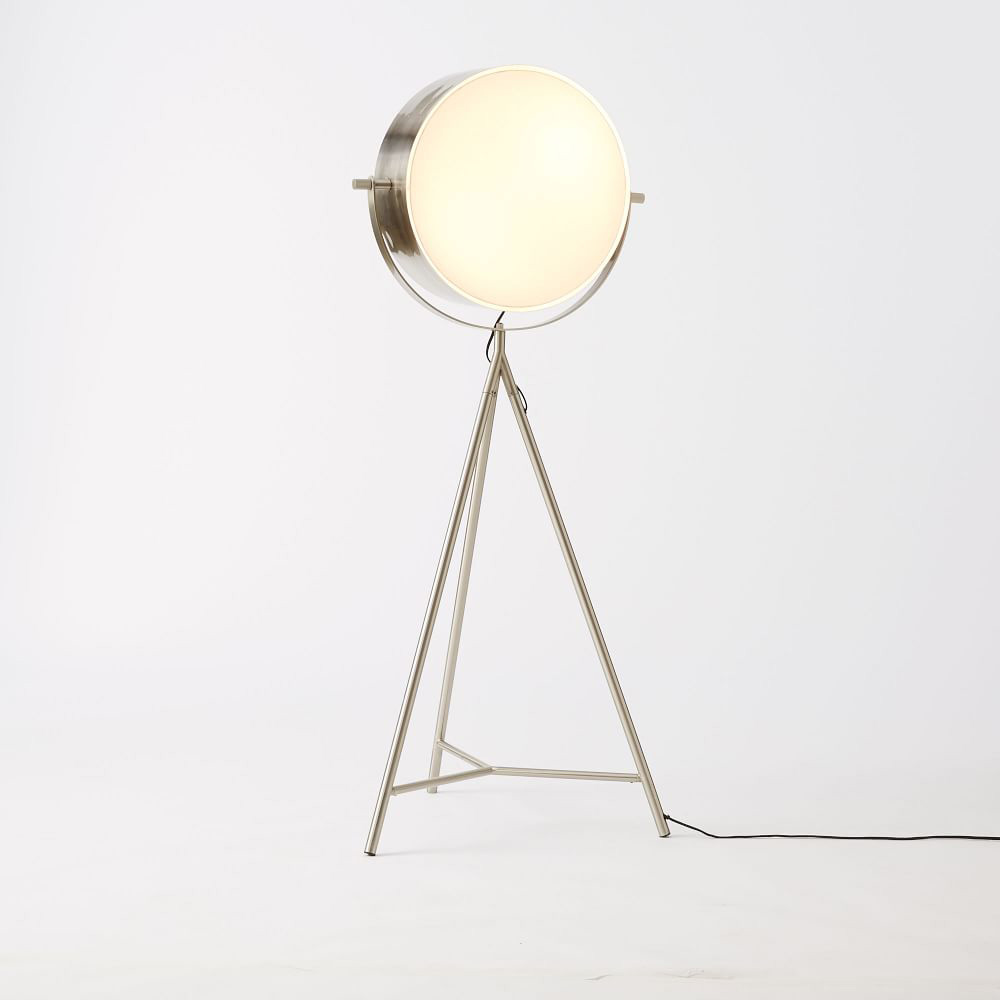 Floor Lamps Spotlight : Spotlight metal tripod floor lamp the green head
