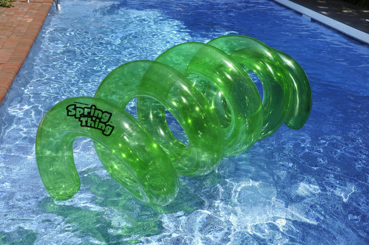 Thing Inflatable Twisty Floating Tunnel Pool Toy The Green Head
