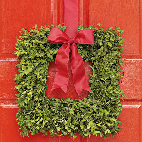 Square Boxwood Wreath The Green Head
